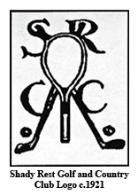 Shady Rest Golf and Country Club Logo c.1921