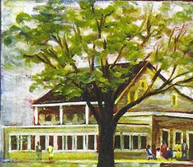 Watercolor of Shady Rest Country Club